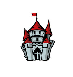 Old medieval castle in cartoon style vector