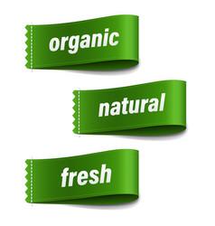 Organic labels set vector