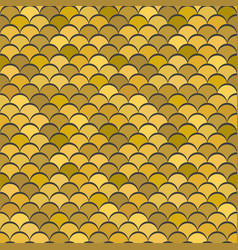 paper scales seamless squama gold metal vector image