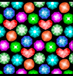 Pattern of colored gemstones vector