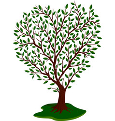 pattern with cartoon green tree vector image