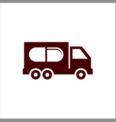 Pharmacy delivery truck box template vector