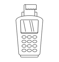 pos terminal icon outline style vector image