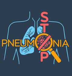Poster pneumonia vector