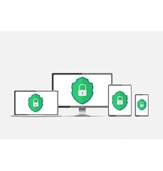 Protection against hacker concept vector image