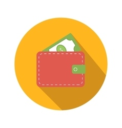 Purse flat icon vector