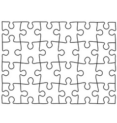 Puzzle template Background for your business vector image