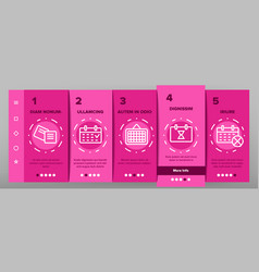 Reminder elements onboarding vector