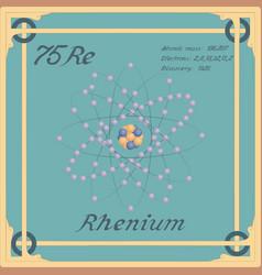 Rhenium colorful icon vector