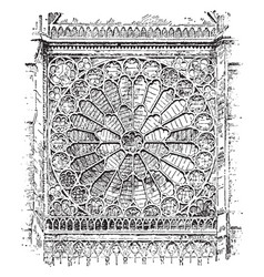Rose window radiating in a form suggestive vector