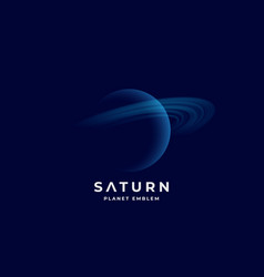 saturn planet abstract sign emblem or logo vector image