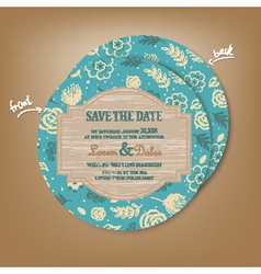 save the date round vector image