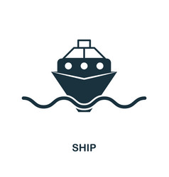 ship icon in flat style icon design vector image