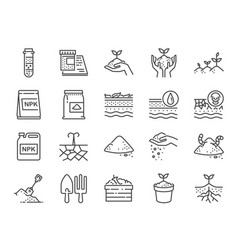 soil line icon set vector image
