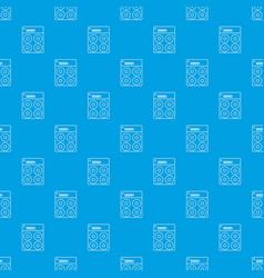 speaker box pattern seamless blue vector image