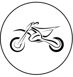 Sport motorcycle bike vector