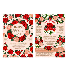 spring holiday or mother day floral posters vector image