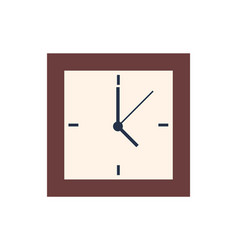 square clocks isolated wall watch showing 5 oclock vector image