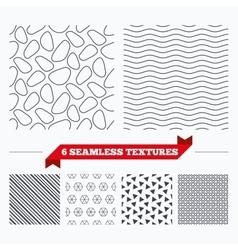 Stone tiles geometric seamless pattern vector