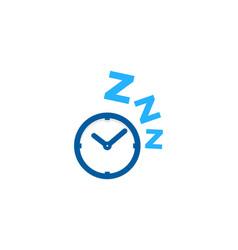 time sleep logo icon design vector image