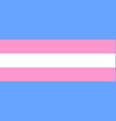 transgender flag or trans banner icon vector image