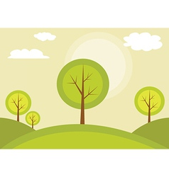 Trees on a hill vector image