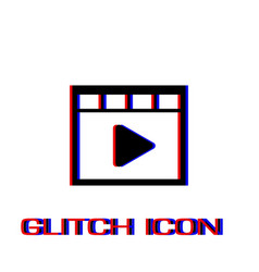 video icon flat vector image