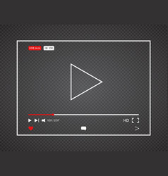 Video player live stream video background vector