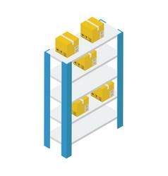 Warehouse racks vector