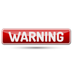 warning - abstract beautiful button with text vector image