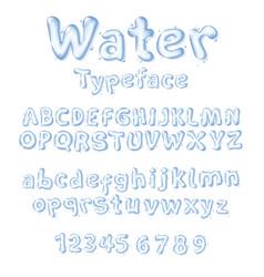water font liquid drop letters vector image