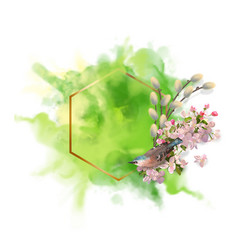 watercolor spring background vector image