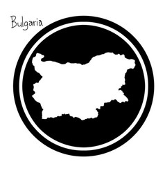 White map of bulgaria on black vector