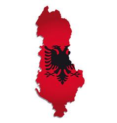 albania flag amp map vector image vector image