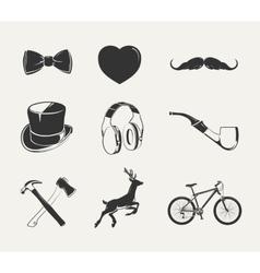 elements for vintage hipster labels vector image vector image