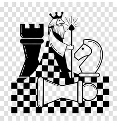 icon of the chess game chess vector image