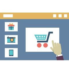 Internet shopping Order and delivery Flat style vector image