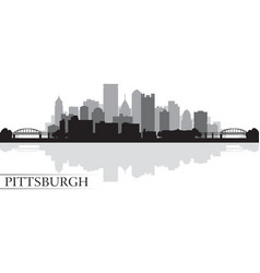 Pittsburgh city skyline silhouette background vector image