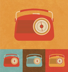 Retro Icons - Old Radio vector image vector image
