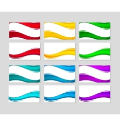 Set of Business Cards with abstract colorful waves vector image vector image