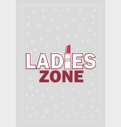 template for ladies concept in vector image vector image