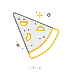 Thin line icons Pizza vector image vector image