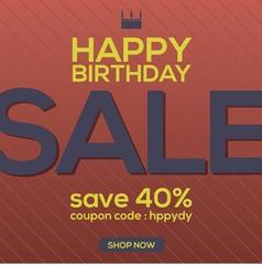 Happy Birthday Sale Banner vector image vector image