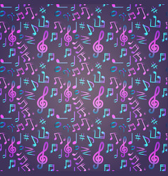 notes seamless pattern music banner colorful vector image