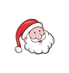 Santa Claus Father Christmas Head Smiling Cartoon vector image vector image