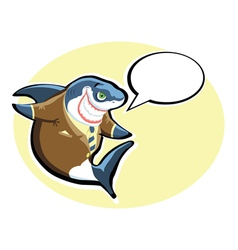 smiling shark vector image vector image