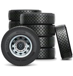 Truck Tires vector image vector image