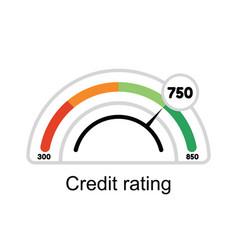 credit score rating manometer vector image