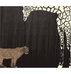 Inverse leopard and giraffe camouflage vector