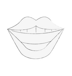 lips of a woman icon image vector image vector image